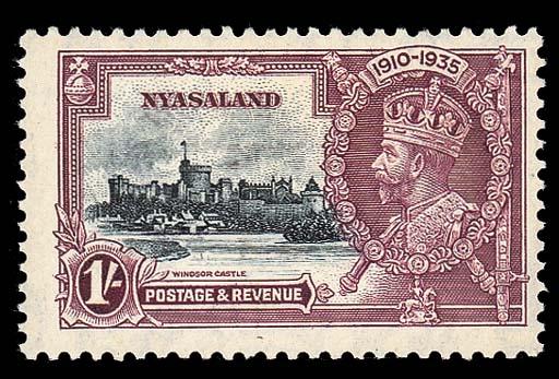 unused  1935 Jubilee 1/- slate
