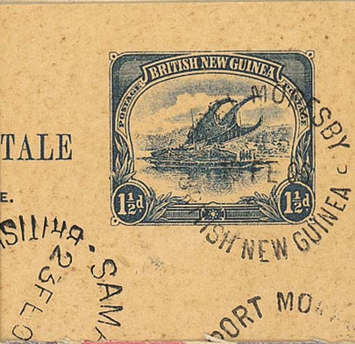 cover 1½d. blue used from Port