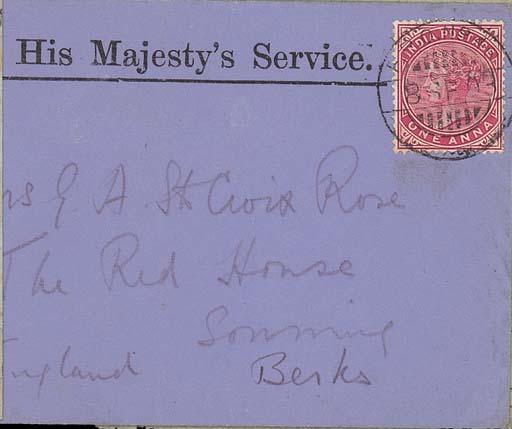 cover 1903 (8 Sept.) blue OHMS