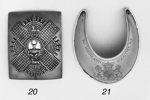 An Officer's Shoulderbelt-plat