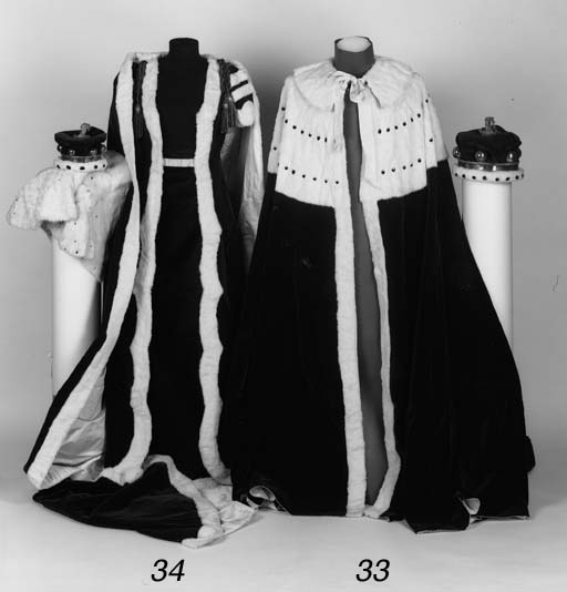 A Peer's Coronation Robe and C