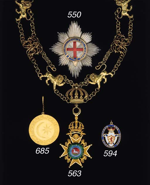 SULTAN'S GOLD MEDAL OF THE ORD