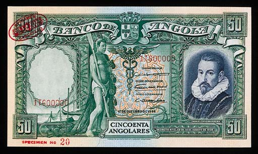 Banco de Angola, specimen 20-A