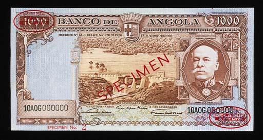 Banco de Angola, specimen 20-,