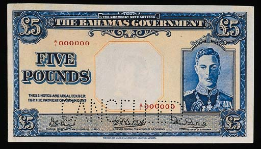 Bahamas, Government Issue, spe