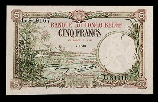Banque du Congo Belge, 5-Franc