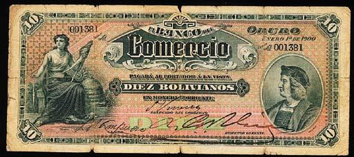 Bolivia, Banco Industrial, Bol
