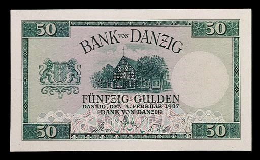 Bank of Danzig, obverse and re