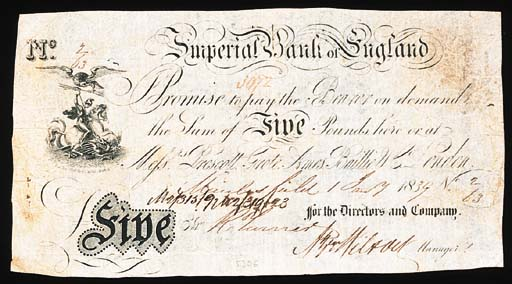 Imperial Bank of England, £5,