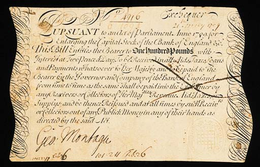 Exchequer Bill, £100, 21 May 1
