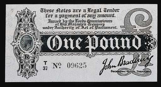 John Bradbury, £1, ND (1914),