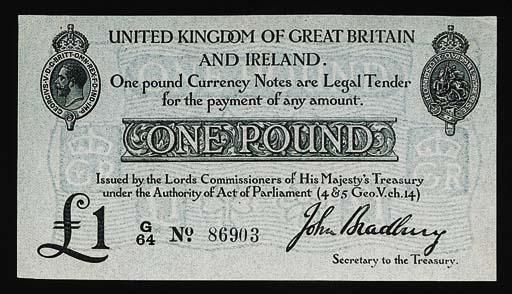 John Bradbury, £1 (2), ND (191