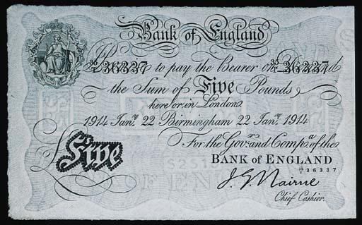 Bank of England, J G Nairne, £