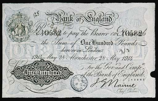 Bank of England, J G Nairne, £