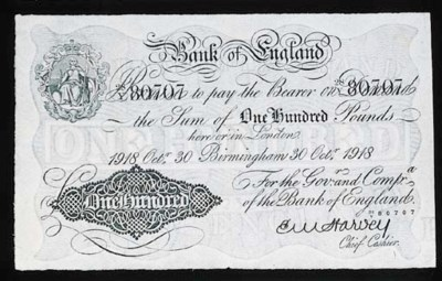 Bank of England, E M Harvey, £