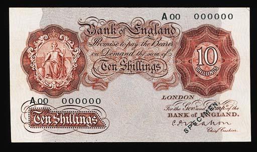 Bank of England, C P Mahon, sp