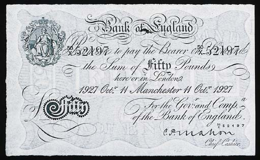 Bank of England, C P Mahon, £5