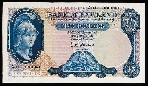 Bank of England, L K O'Brien,