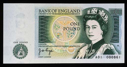 Bank of England, J B Page, £1