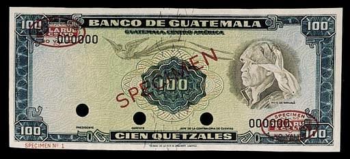 Banco de Guatemala, specimen 5