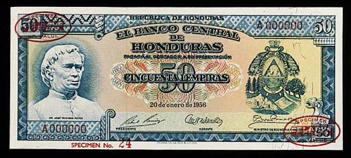 Honduras, Banco Central, speci
