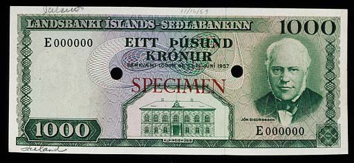 Bank of Iceland, a set of colo