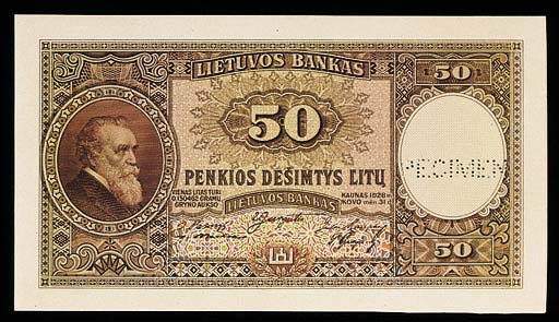 Bank of Lithuania, colour tria