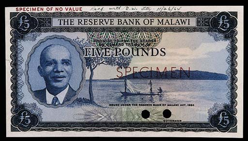 Malawi, Reserve Bank, a set of