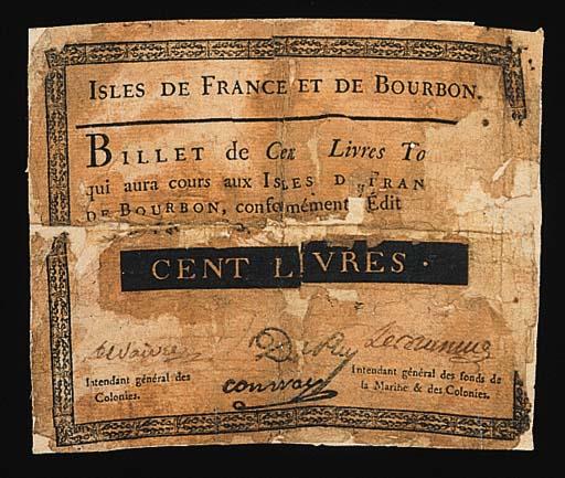 Mauritius, 100-Livres, 1788, b