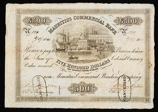 Mauritius Commercial Bank, $50