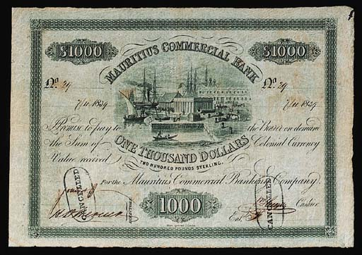 Mauritius Commercial Bank, $10
