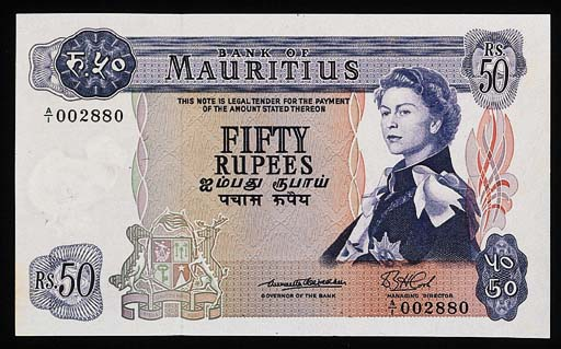 Bank of Mauritius, 50-Rupees (
