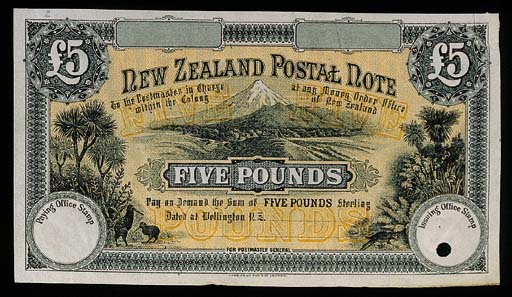 New Zealand, Postal note, unis