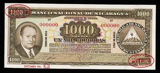 Nicaragua, Banco Central, a gr