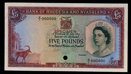 Rhodesia and Nyasaland, a set