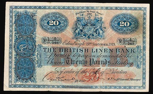 Scotland, British Linen Bank,
