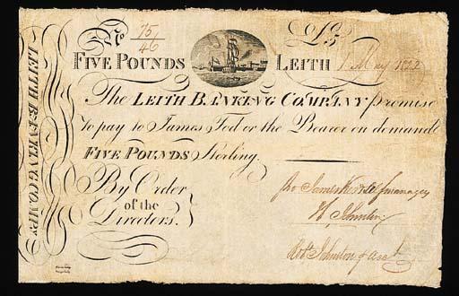 Scotland, Leith Banking Compan
