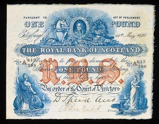 Royal Bank of Scotland, £1, 14