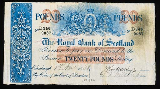 Royal Bank of Scotland, £20, 1