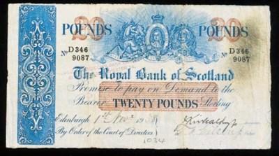 Royal Bank of Scotland, £20, 1