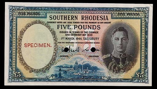 Southern Rhodesia, Currency Bo