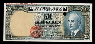 Turkey, Central Bank, colour t