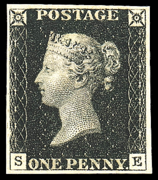 1840 One Penny Black