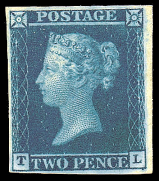1841 Two Pence Blue