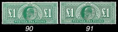 unused  1902-11 De La Rue £1 d