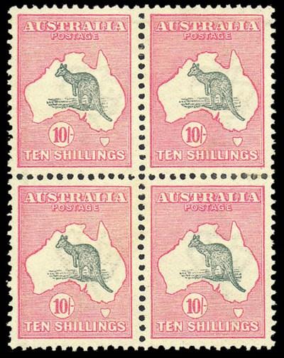unused Block of Four  1913 (20