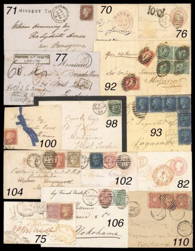 cover 1844 1d. pink postal sta