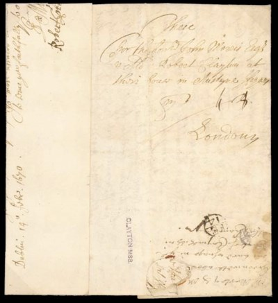 cover 1670/71 entire letter fr