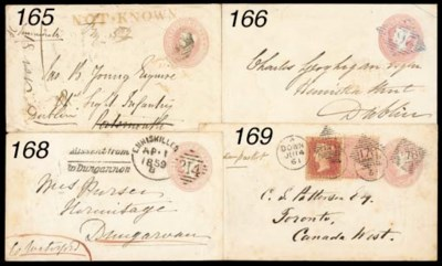 cover 1852 1d. pink postal sta