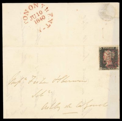 cover 1840 1d. plate IV, OL, s